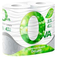 Туалетная бумага OVA 4 рулона 3 слоя