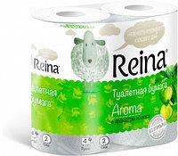 Туалетная бумага ароматизированная Reina Яблоко 4 рулона . 2 слоя