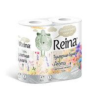 Туалетная бумага ароматизированная Reina Цветочная свежесть 4 рулона 2 слоя