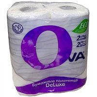 Бумажные полотенца OVA 2 рулона в упаковке 2 слоя
