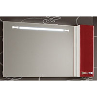 Зеркало Акватон, ДИОР, 120, правое, бело-бордовое