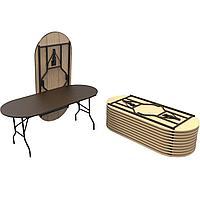 Стол банкетный овальный ММК С5.187-75 ОТД 1800х700 мм
