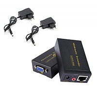 VGA Extender 100m LAN + Audio (удлинитель VGA сигнала и Звука до 100 метров по UTP)+Power Supply
