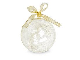 Футляр в виде новогодней игрушки, прозрачный/золотистый