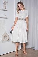 Женское летнее бежевое платье Urs 21-536-1 44р.