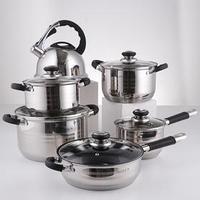Набор посуды, 6 предметов чайник 3,5 л, ковш 16 см, кастрюли 18/20/24 см, сковорода 24 см, индукция