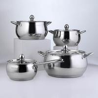 Набор посуды 'Танто', 4 предмета 2,9 л, 3,8 л, 6,6 л , ковш 2 л, индукция
