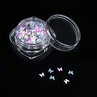 Пайетки для декора «Бабочки», цвет МИКС