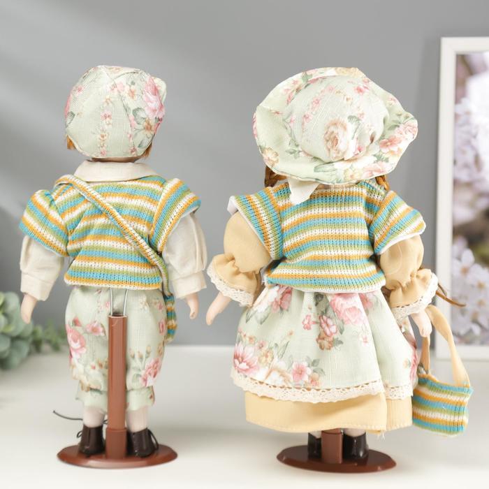 """Кукла коллекционная парочка набор 2 шт """"Валя и Витя в цветочных нарядах"""" 30 см - фото 5"""
