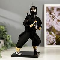 Кукла коллекционная 'Чёрный ниндзя с мечом' 25х12,5х12,5 см