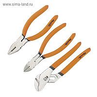 Набор губцевого инструмента SPARTA №2, плоскогубцы, бокорезы, клещи переставные