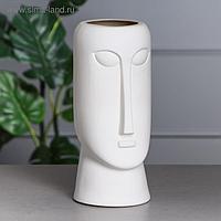 """Ваза настольная """"Будда"""", декоративная, интерьерная, белая, керамика, 31.5 см"""