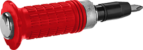 Отвёртка ударно-поворотная в наборе с битами, ЗУБР, 6 шт. (2565)
