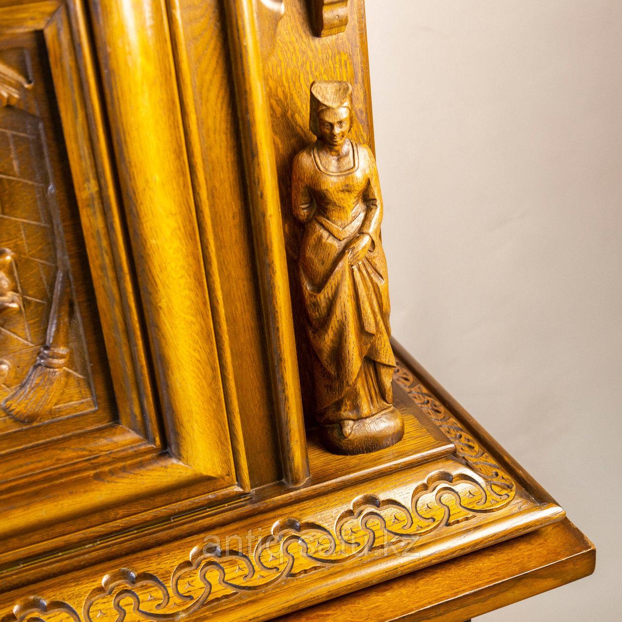 Комод в стиле Брейгель. Голландия- Бельгия. Середина 20 го века. Необычный резной бар-комод. - фото 6