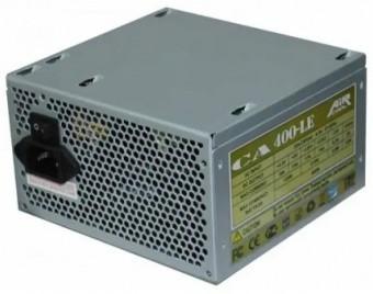 Блок Питания AiR-Cool 400W 230V 20+4P 3* Sata 2* Molex 2+2 pin, 6 pin, PATA+SATA+FDD, FAN 12cm