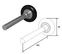 Ролик 105 мм для секционных ворот, фото 1