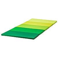 """Складной гимнастический коврик, """"PLUFSIG """", зеленый 78x185 см, толщина 3.2 см"""