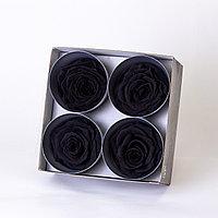 Роза Премиум (черный); 4 бутона