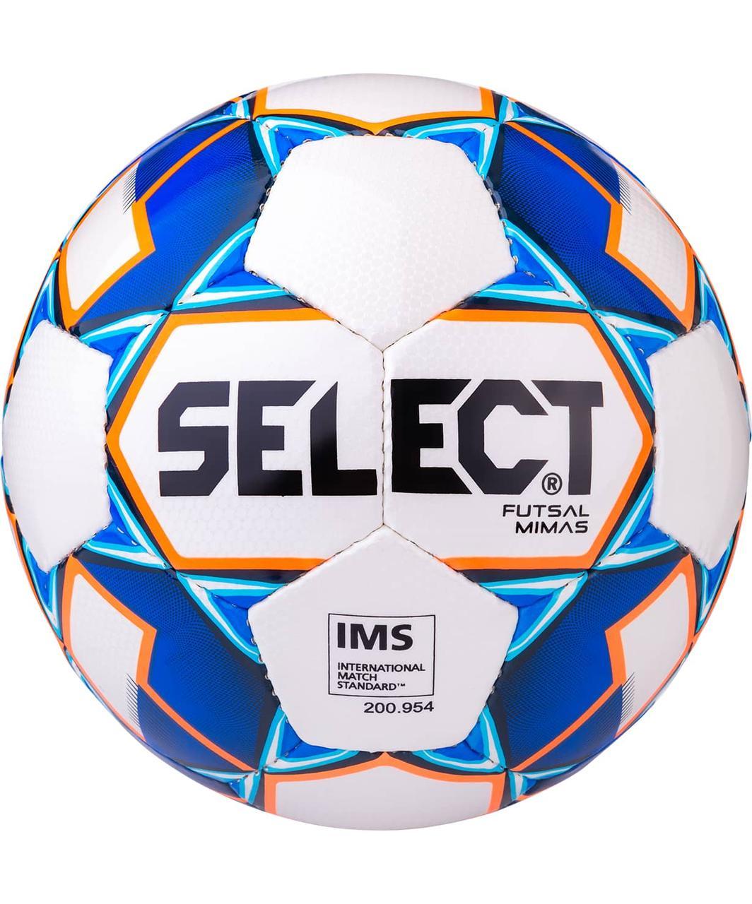 Мяч футзальный Futsal Mimas IMS 852608 №4, белый/синий/оранжевый/черный Select