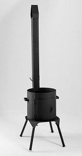 Печь с трубой и дверкой со съёмными ножками 12л
