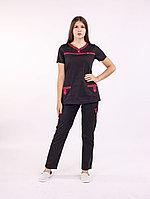 Медицинский костюм Зебо (черный)