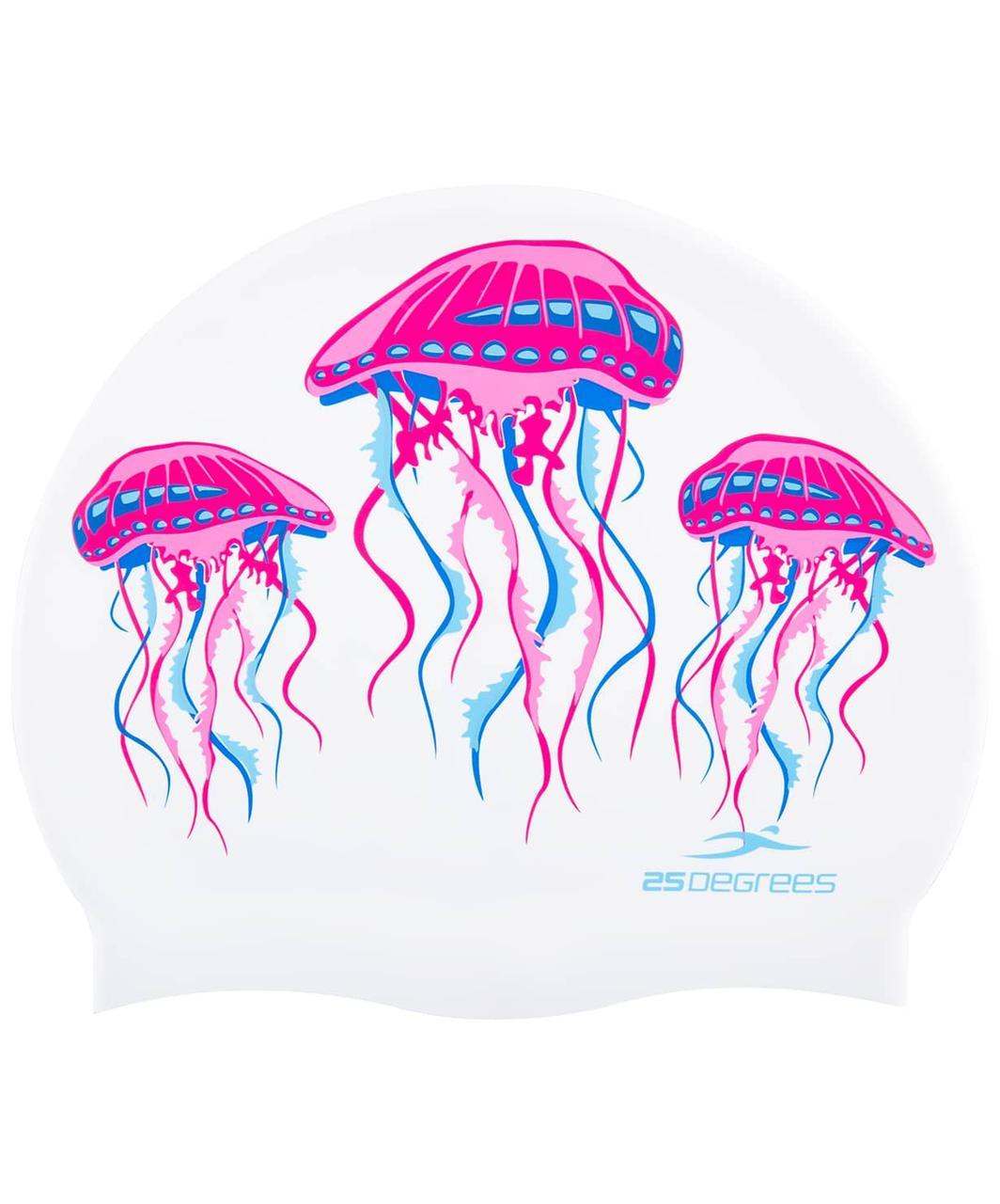 Шапочка для плавания Meduza, силикон, подростковая 25Degrees