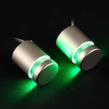 Алюминиевый дистанционный держатель с подсветкой 25*30 зеленый (2шт)