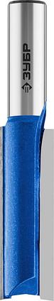 """Фреза пазовая прямая, удлиненная, ЗУБР 16 x 51 мм, хвостовик 12 мм, серия """"Профессионал"""" (28754-16-51), фото 2"""
