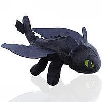 """Мягкая игрушка """"Беззубик"""" 27 см черный"""