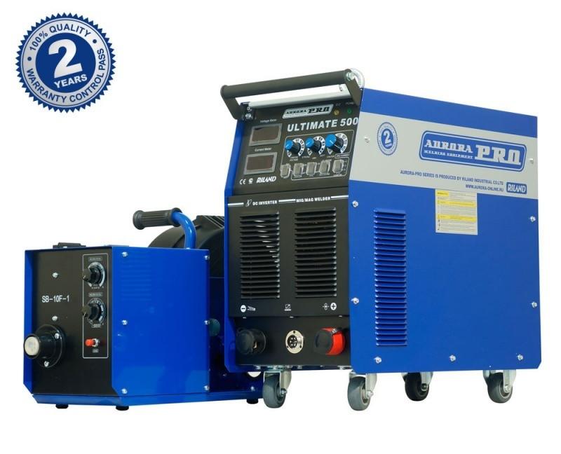 Полуавтомат сварочный инверторный индустриальный AuroraPRO ULTIMATE 500 INDUSTRIAL (MIG/MAG+MMA)
