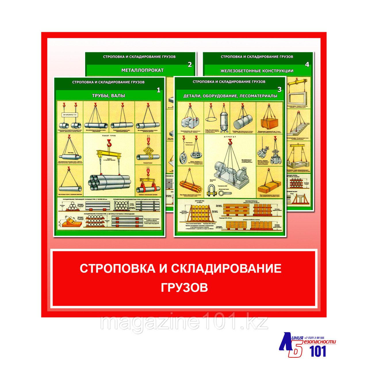 """Плакаты """"Строповка и складирование грузов"""""""