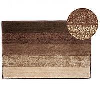 Коврик Аквалиния микрофибра полоска коричневый 50*80 (4680018349313)