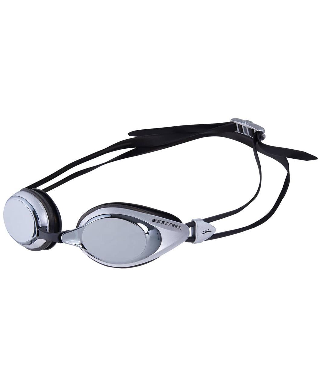 Очки для плавания Pulso Mirrored White/Black 25Degrees