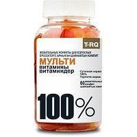Мультивитамины и минералы с волокнами 100% T-RQ для взрослых №60 жев. конфеты
