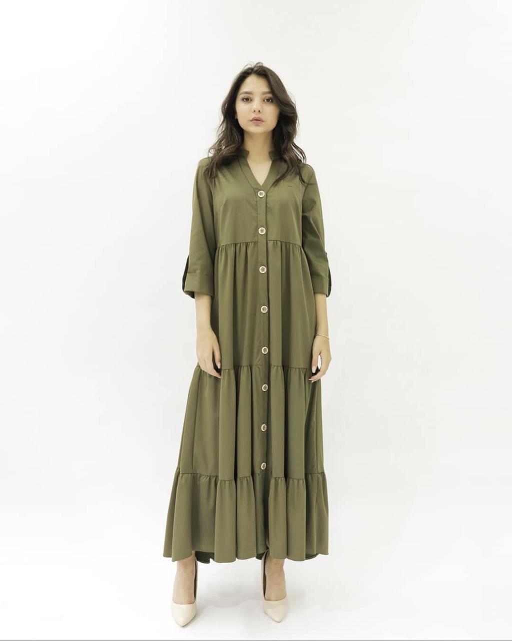 Платье Hanym (хаки, 2021)