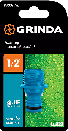 """Адаптер штуцерный TE-12, GRINDA 1/2"""", с внешней резьбой, серия """"PROLine"""" (8-426415), фото 2"""