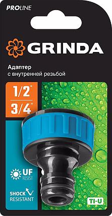 """Адаптер штуцерный TI-34, GRINDA 3/4"""", с внешней резьбой, серия """"PROLine"""" (8-426402_z01), фото 2"""