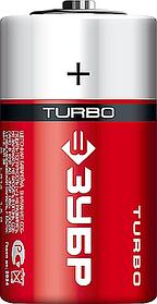 Батарейка щелочная Turbo, ЗУБР C, 2 шт. (59215-2C_z01)