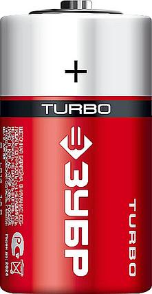 Батарейка щелочная Turbo, ЗУБР C, 2 шт. (59215-2C_z01), фото 2