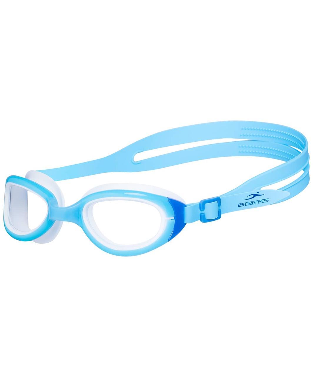 Очки для плавания Friggo Light Blue/White, подростковые 25Degrees
