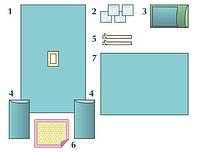 Комплект стерильный операционный одноразовый для гинекологических операций Тип 3