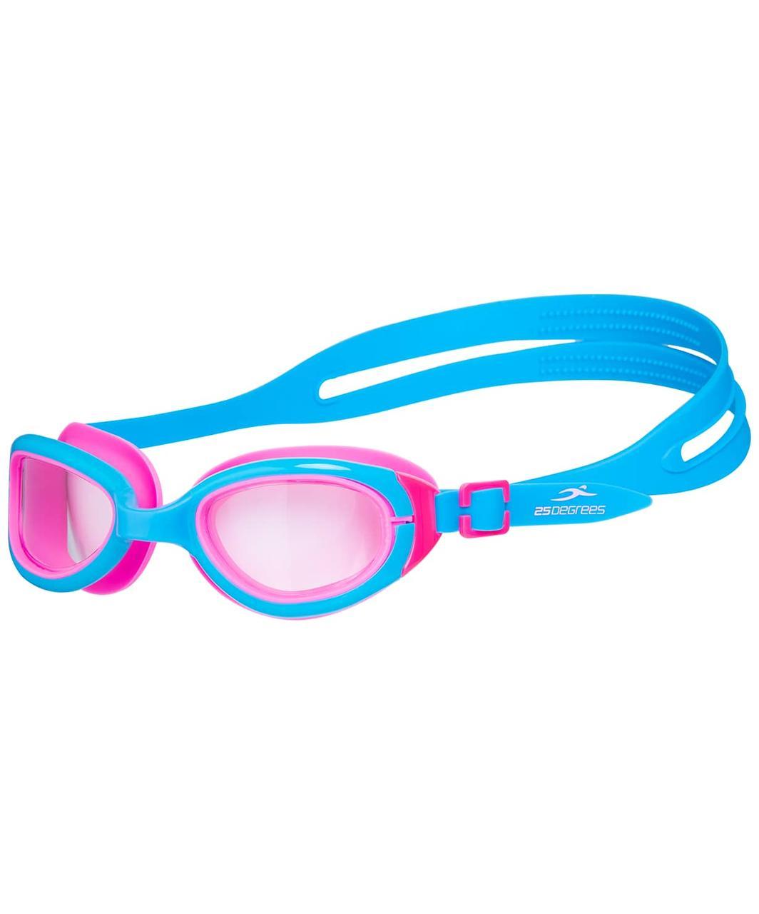 Очки для плавания Friggo Light Blue/Pink, подростковые 25Degrees