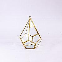 Ваза (флорариум), многоугольник, стекло