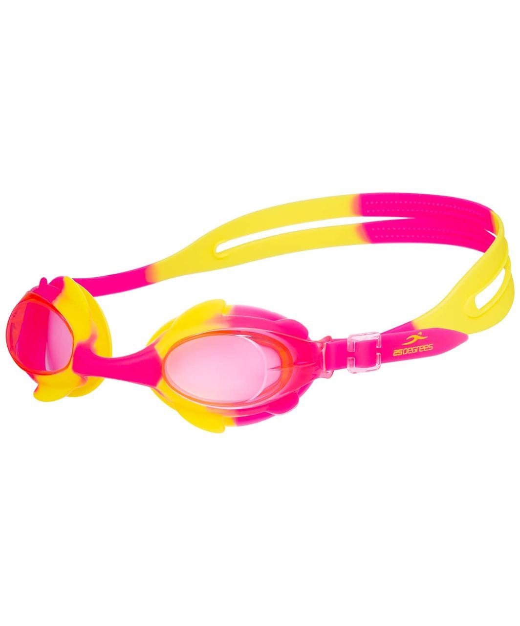 Очки для плавания Yunga Pink/Yellow, детские 25Degrees