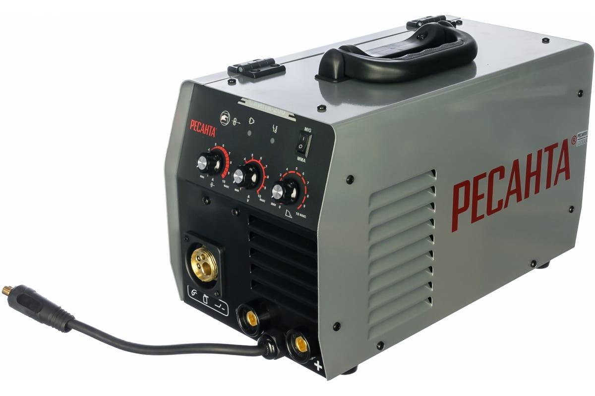 Сварочный аппарат инверторный п/а РЕСАНТА САИПА-200 220В 30-200А 70% 0.8-1мм 14.35кг
