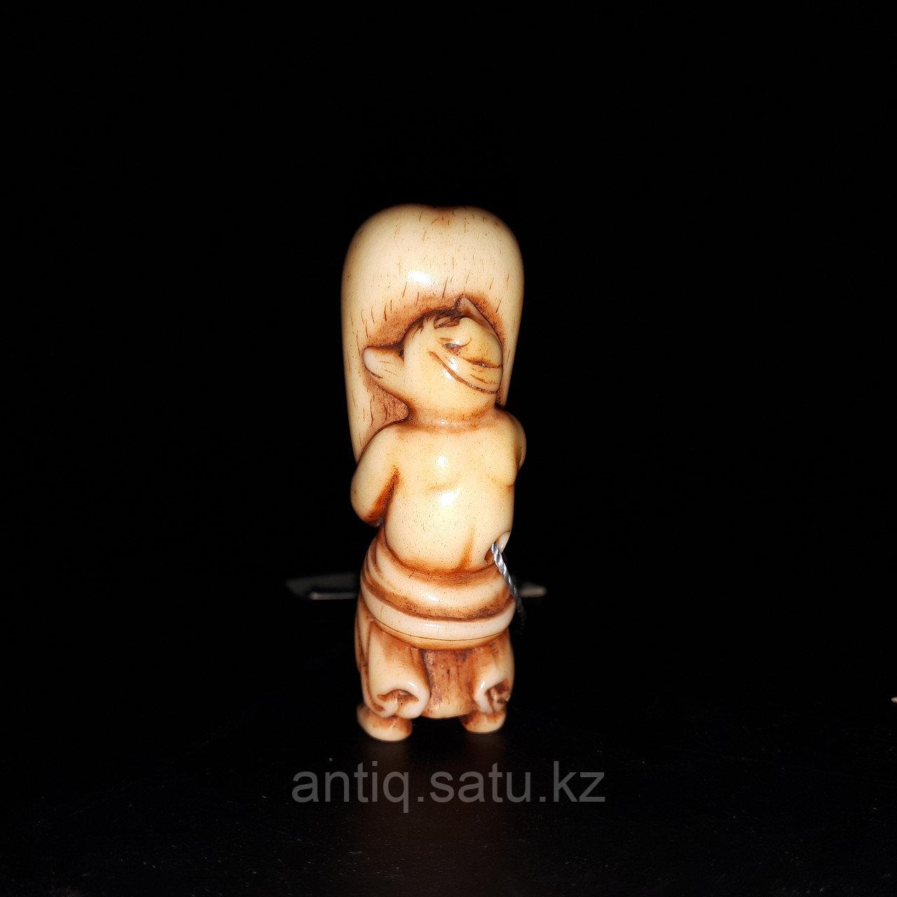 Нэцкэ « Кицунэ» по старинной легенде приносит удачу в торговых делах, богатство и достаток. - фото 3