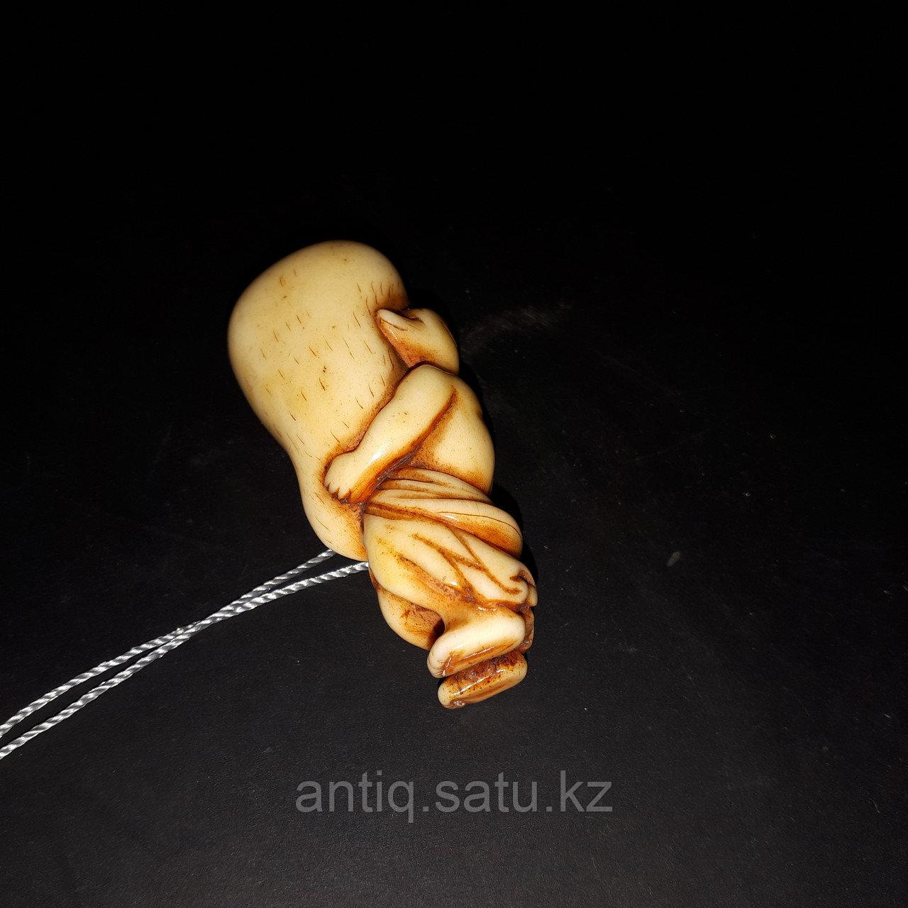 Нэцкэ « Кицунэ» по старинной легенде приносит удачу в торговых делах, богатство и достаток. - фото 6