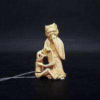 Нэцкэ Демоны «Ёкай» приносит людям богатство или удачу в делах. Япония, начало ХХ века Слоновая кость.