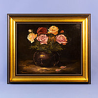 «Натюрморт с розами» Западная Европа. Середина ХХ века