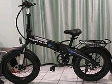 """48v 250w, аккум. Li-ion 48v 10,4 A/H. Электровелосипед складной. Колеса 20*4""""."""
